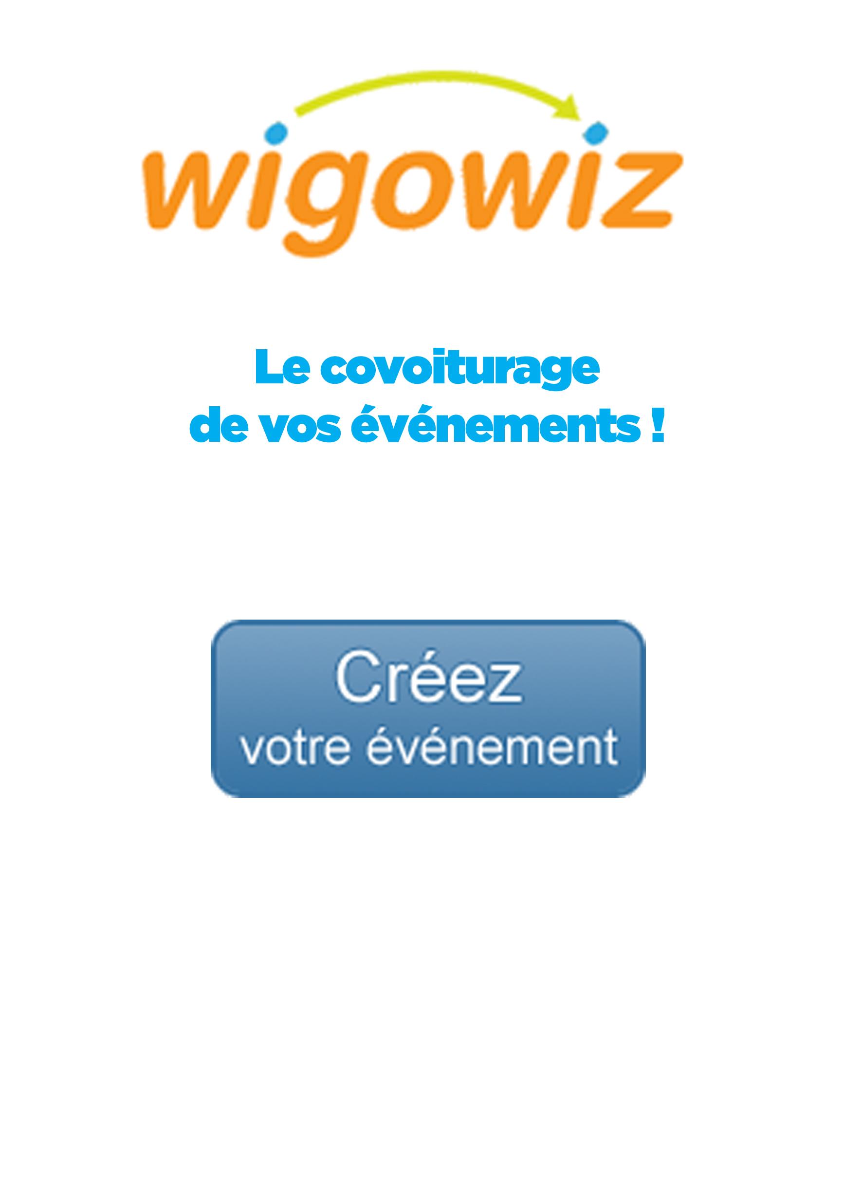 Wigowiz, le covoiturage de vos événements