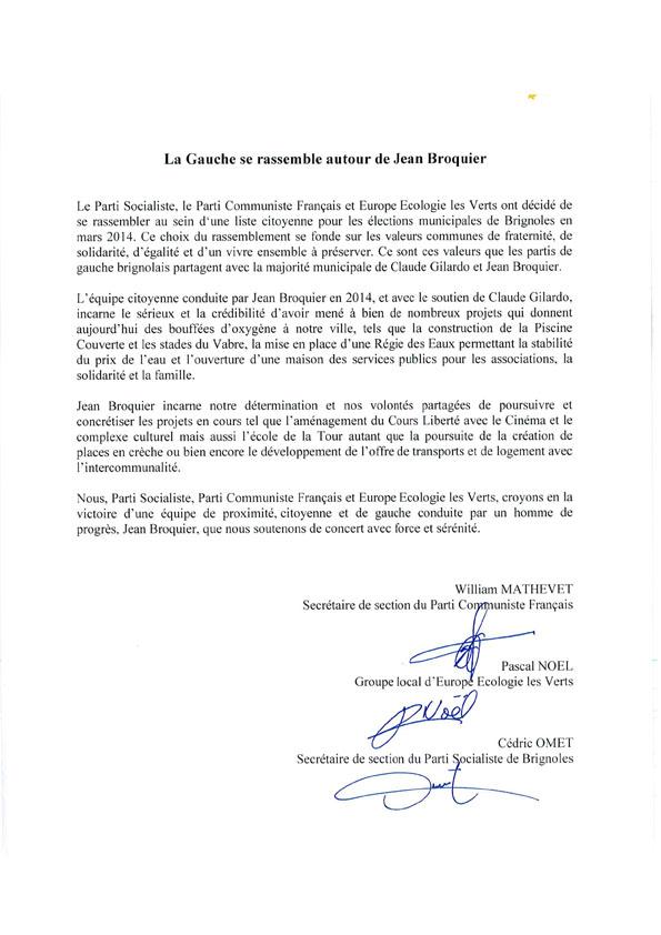 2013 11 08 CP Union de la Gauche à Brignoles